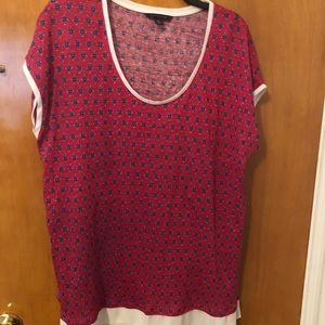 Tommy Hilfiger XL red print knit top